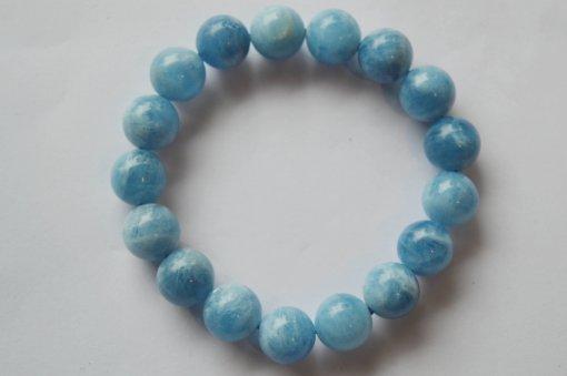 Vòng tay đá phong thuỷ aquamarine xanh nước biển 1