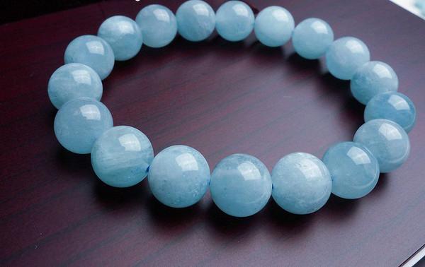 vòng tay đá phong thủy Aquamarine ngọc xanh biển
