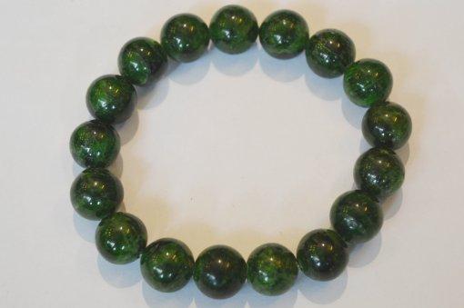 Vòng tay đá phong thủy diopside xanh rêu
