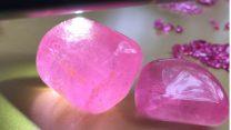 Hai khối tinh thể Tourmaline hồng siêu khủng được tìm thấy tại Lục Yên – Yên Bái