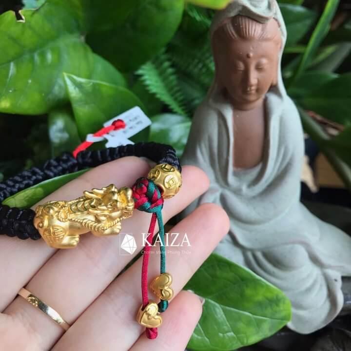 Charm Tỳ Hưu Phong Thủy Vàng 9999 KAIZA cho năm mới Tân Sửu 2021